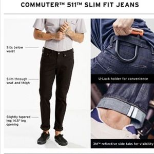 Levi's | Dark Wash 511 Slim Fit Commuter Jeans